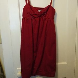 Ann Taylor Loft Red Strappy Dress
